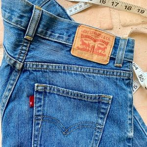 High rise cropped Levi's